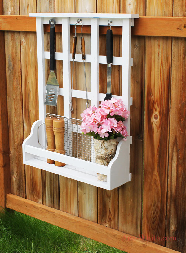 Ana white outdoor window shelf with lattice diy projects for Decorating outdoor lattice