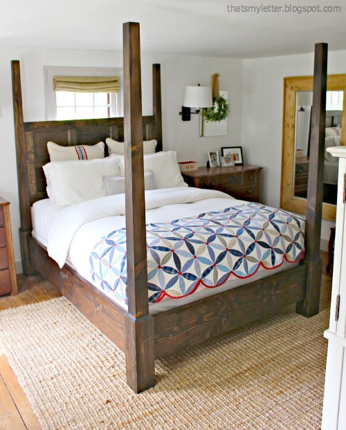 Four poster bed plans with canopy for Build your own canopy bed
