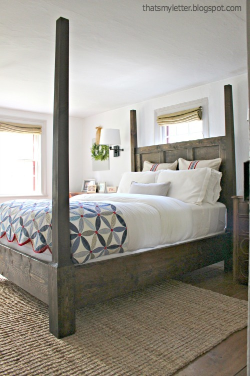 Good build your own colonial style poster bed or canopy bed with free plans from ana white