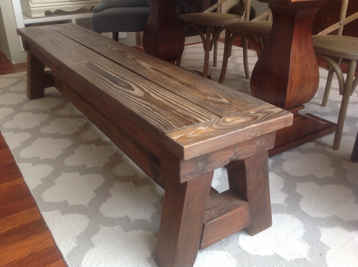 Benches Dining Table: Dining Table 4x4 Truss Bench - DIY Projects