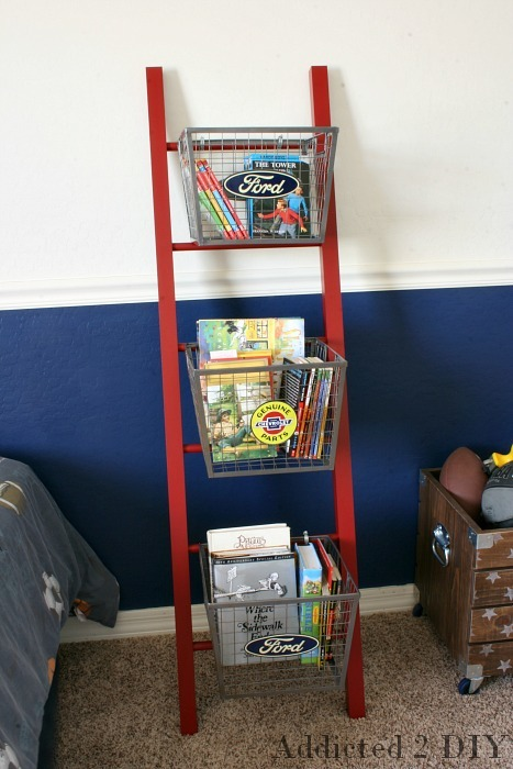 Ana white pb teen inspired ladder shelf diy projects for Ladder project