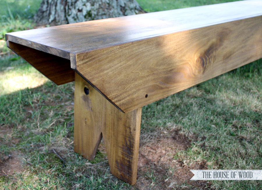 Ana White Primitive Bench For Haven Conference Diy Projects