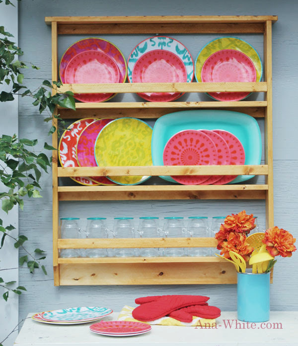 sc 1 st  Ana White & Ana White | Outdoor Dish / Plate Rack - DIY Projects