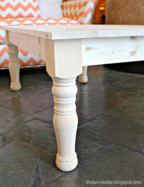 Ana White Haven Turned Leg Coffee Table Diy Projects