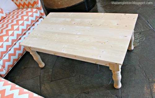 Easy DIY Coffee Table With Turned Legs   From Ana White.com