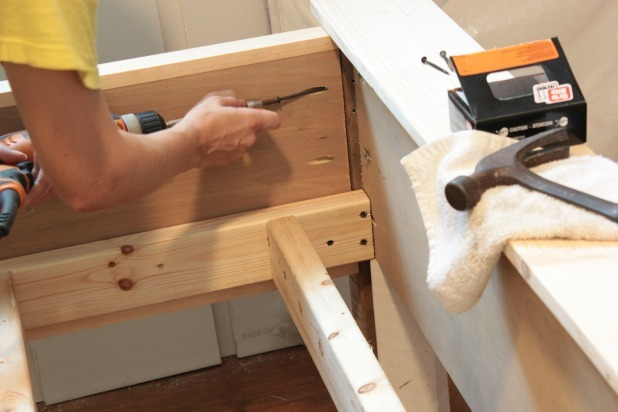 Ana White | DIY Wood Bed Frame With Reclaimed Wood Legs ...