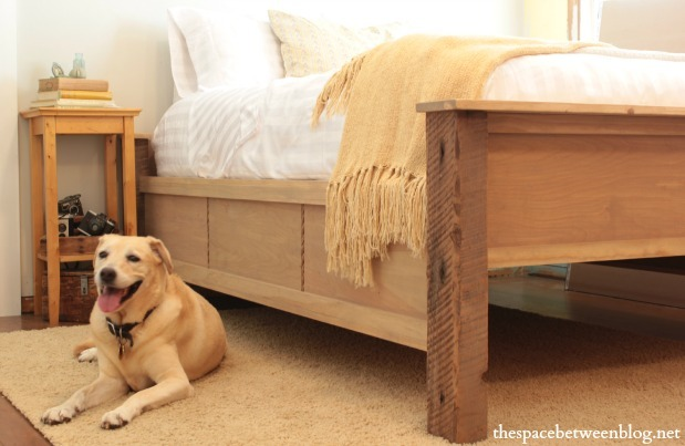 Ana White Diy Wood Bed Frame With Reclaimed Wood Legs