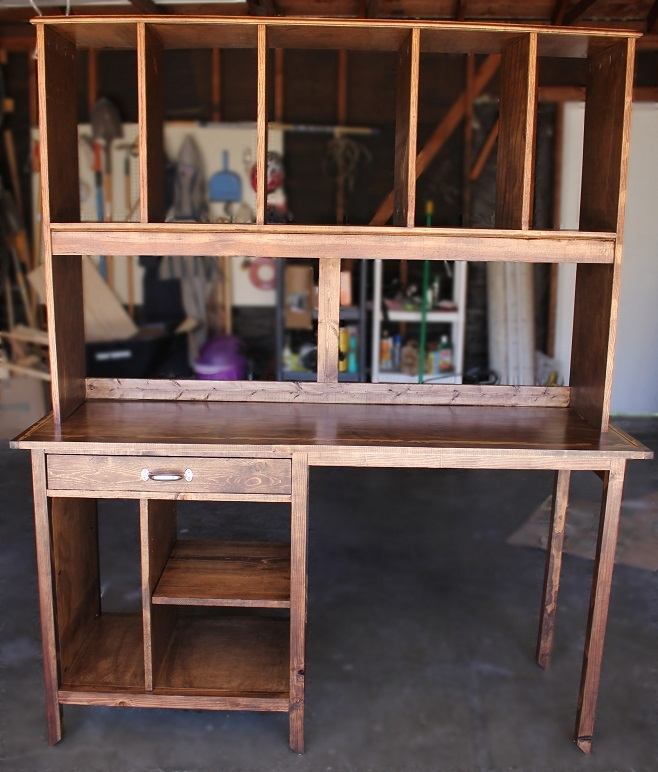 Ana White Channing Desk And Hutch Diy Projects