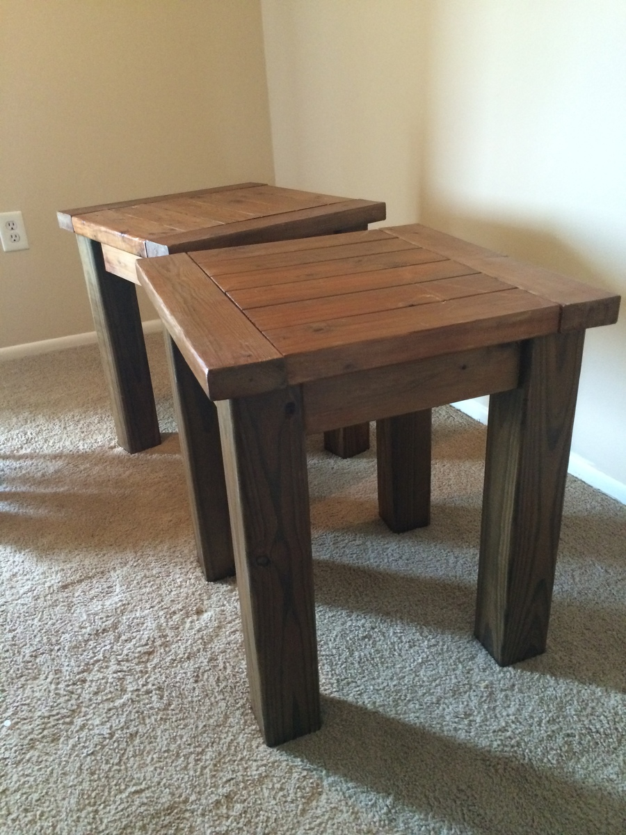 Ana white tryde coffee table and end tables diy projects for Diy coffee and end tables