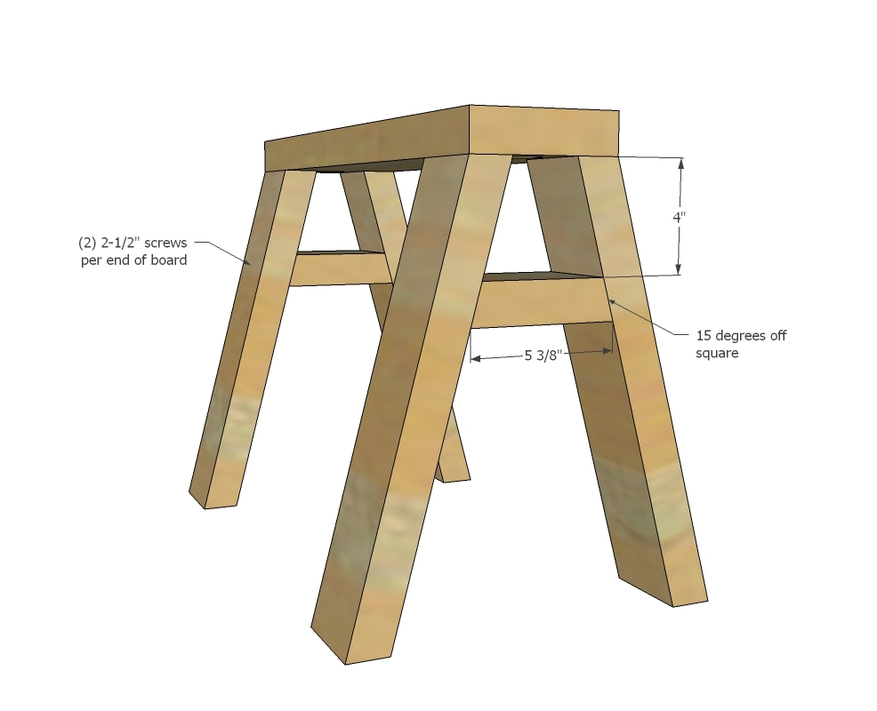 ... Sawhorse Desk to Coffee Table | Free and Easy DIY Project and