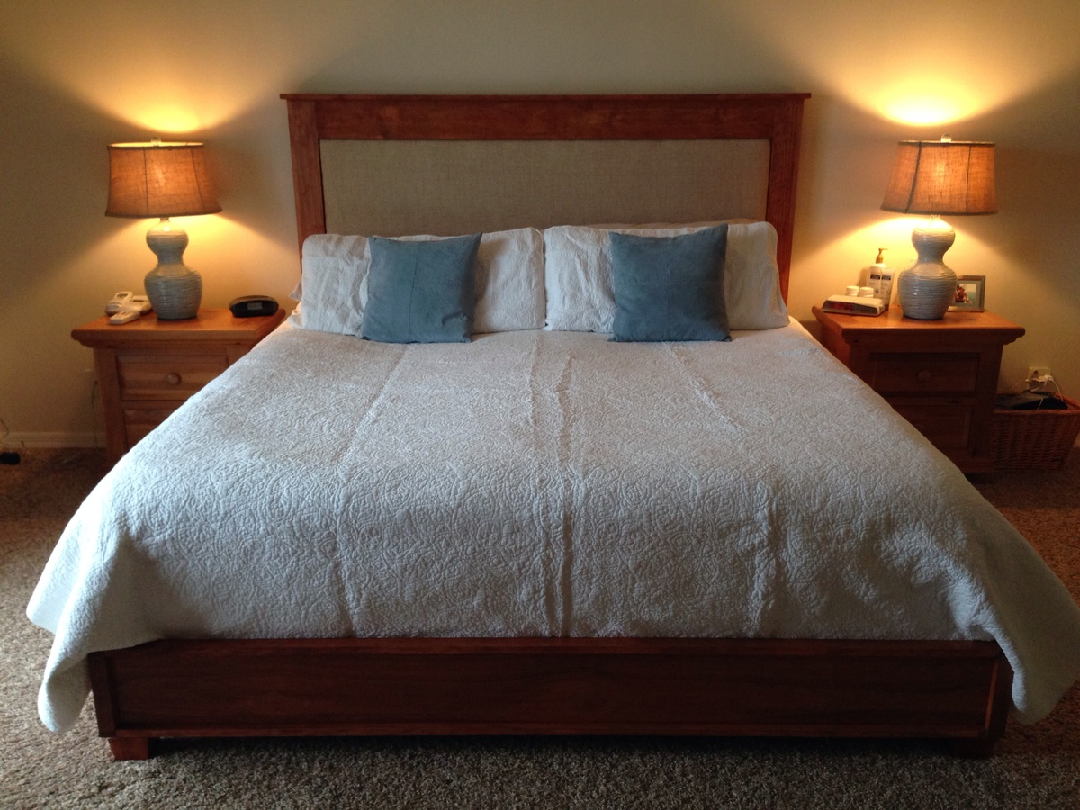 King Chestwick Headboard And Platform Bed Ana White
