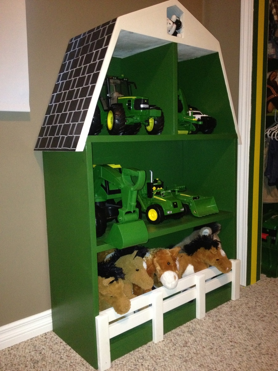 John Deere Bed Plans : Ana white john deere green barn shelf diy projects