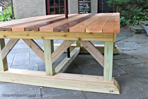 Ana White | Double Trestle Outdoor Table - DIY Projects