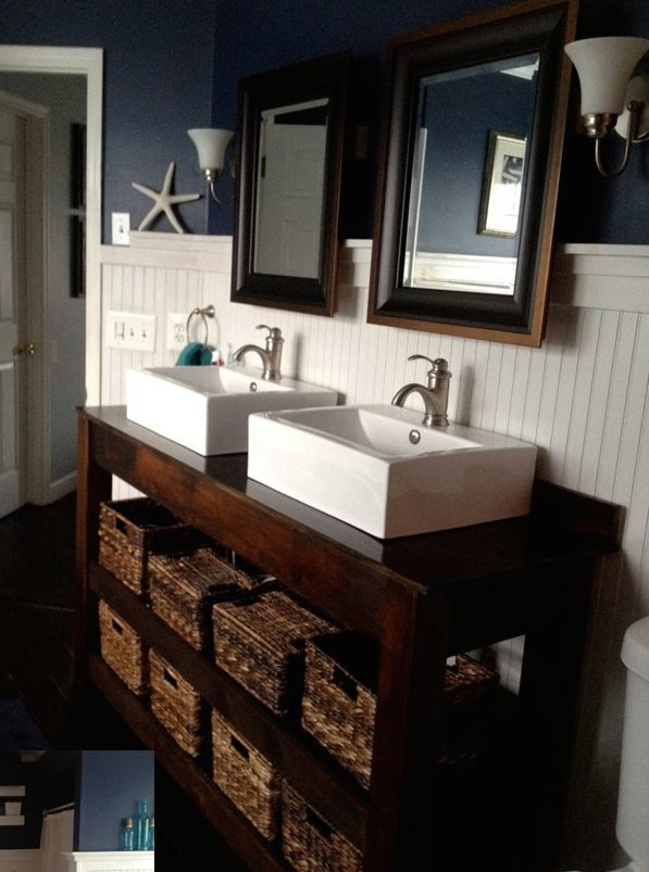 ana white | spa-slatted double vanity - diy projects