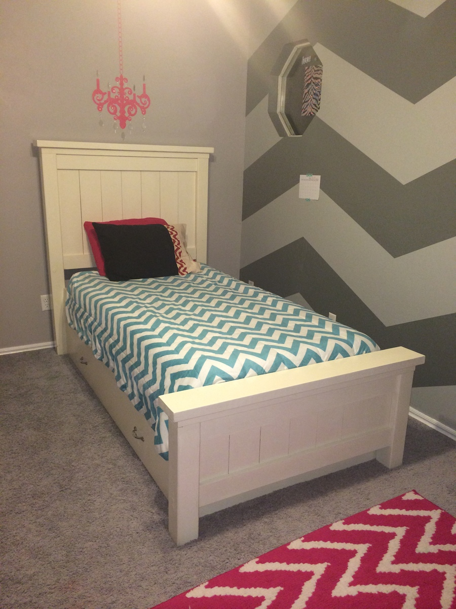 Twin Farmhouse Bed With Trundle Ana White