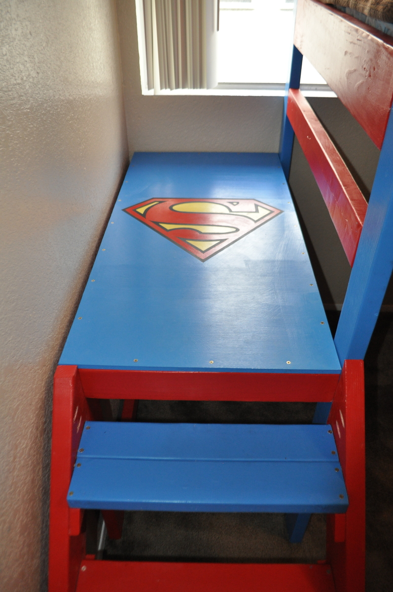 Ana White Superman Theme Loft Bunk Bed Diy Projects