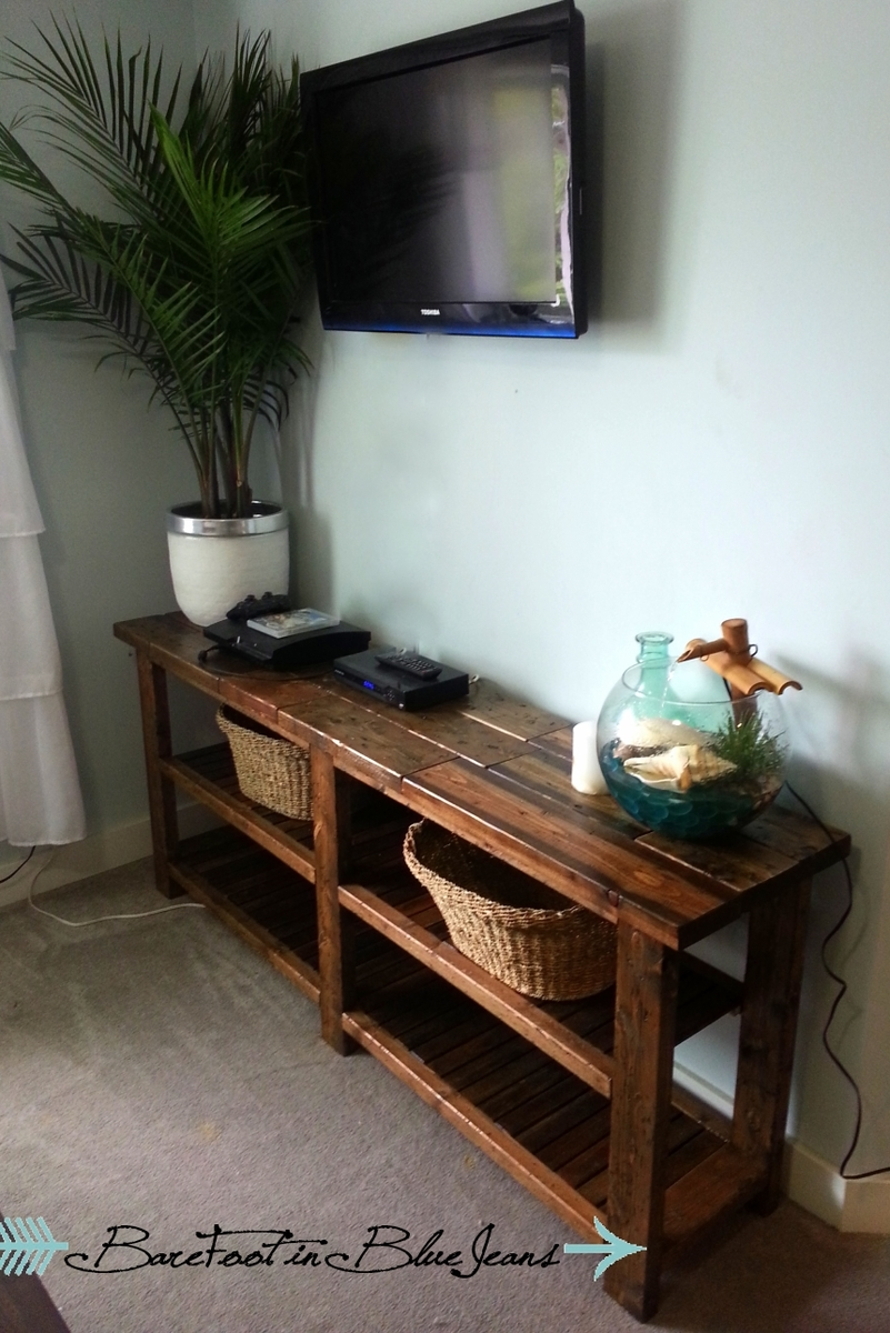 Do It Yourself Home Design: DIY Rustic Console Table - DIY Projects