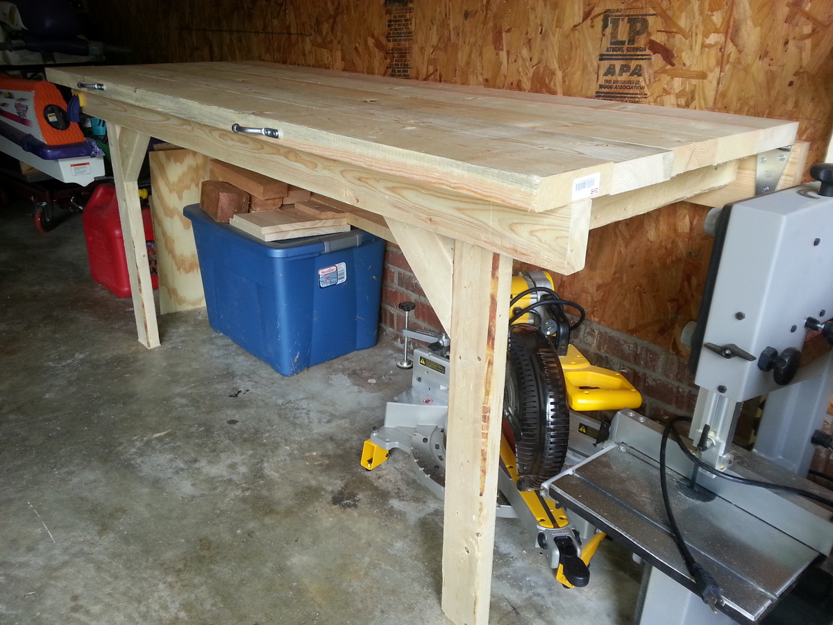 Ana White Folding Garage Workbench Diy Projects