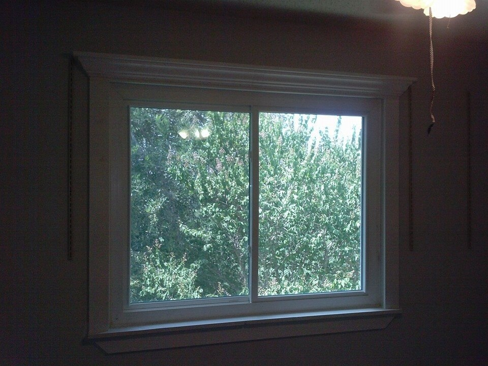 Ana White Crown Ledges Used As Trim For Window Diy