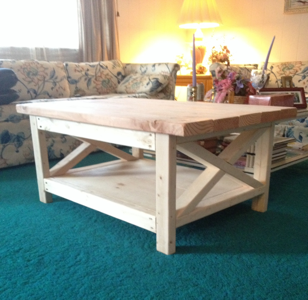 Rustic X Coffee Table - DIY Projects