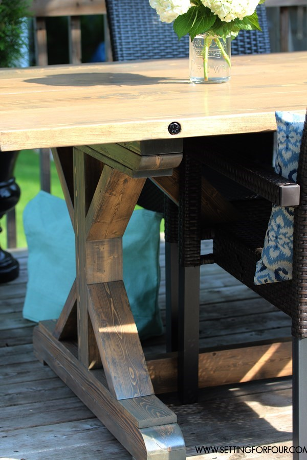 Beau $157 Custom Farmhouse Table With Bolted Plank Top   Restoration Hardware  Inspired With Salvage Grey Wash Finish