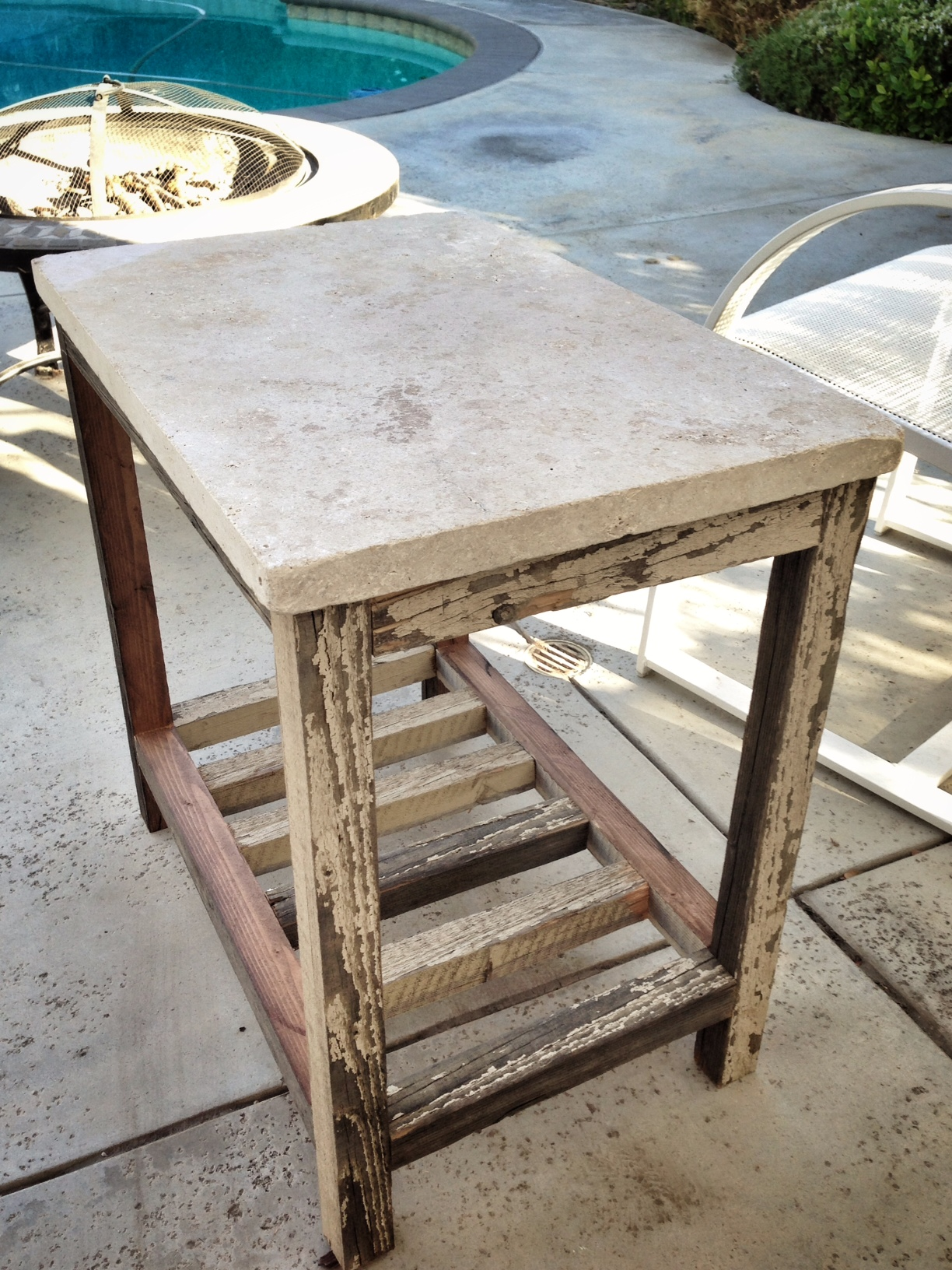 Ana White Travertine Paver Side Table Diy Projects