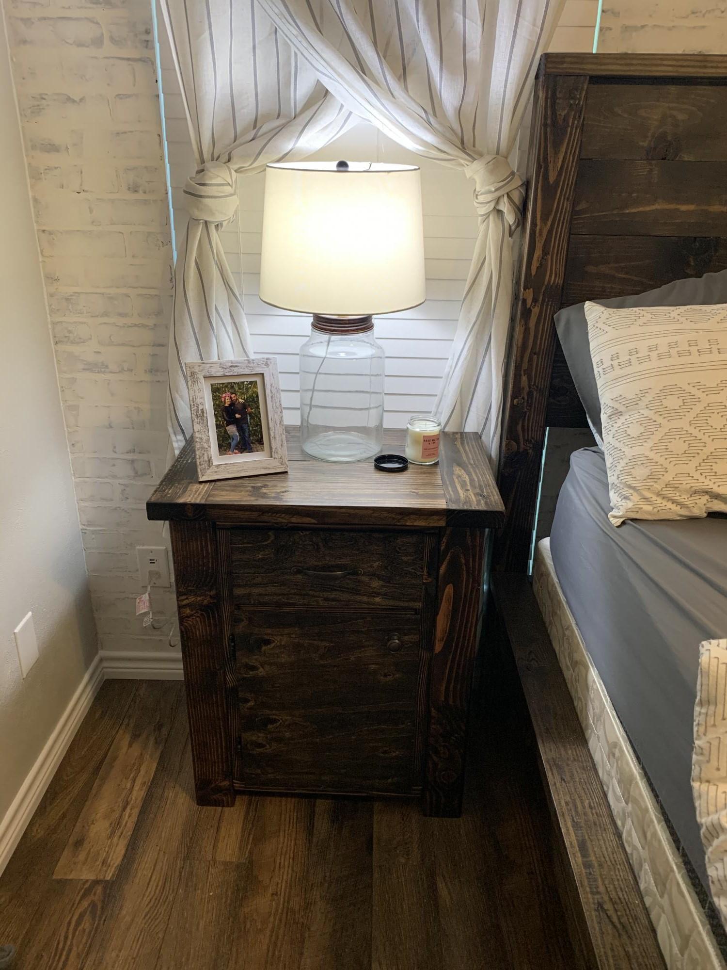 Modern Farmhouse Nightstands Own Plan Ana White