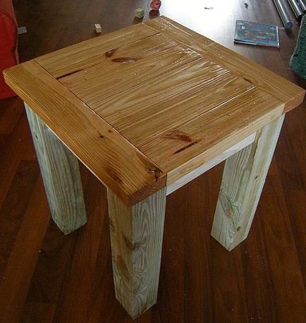 Ana White Tryed Side Table DIY Projects