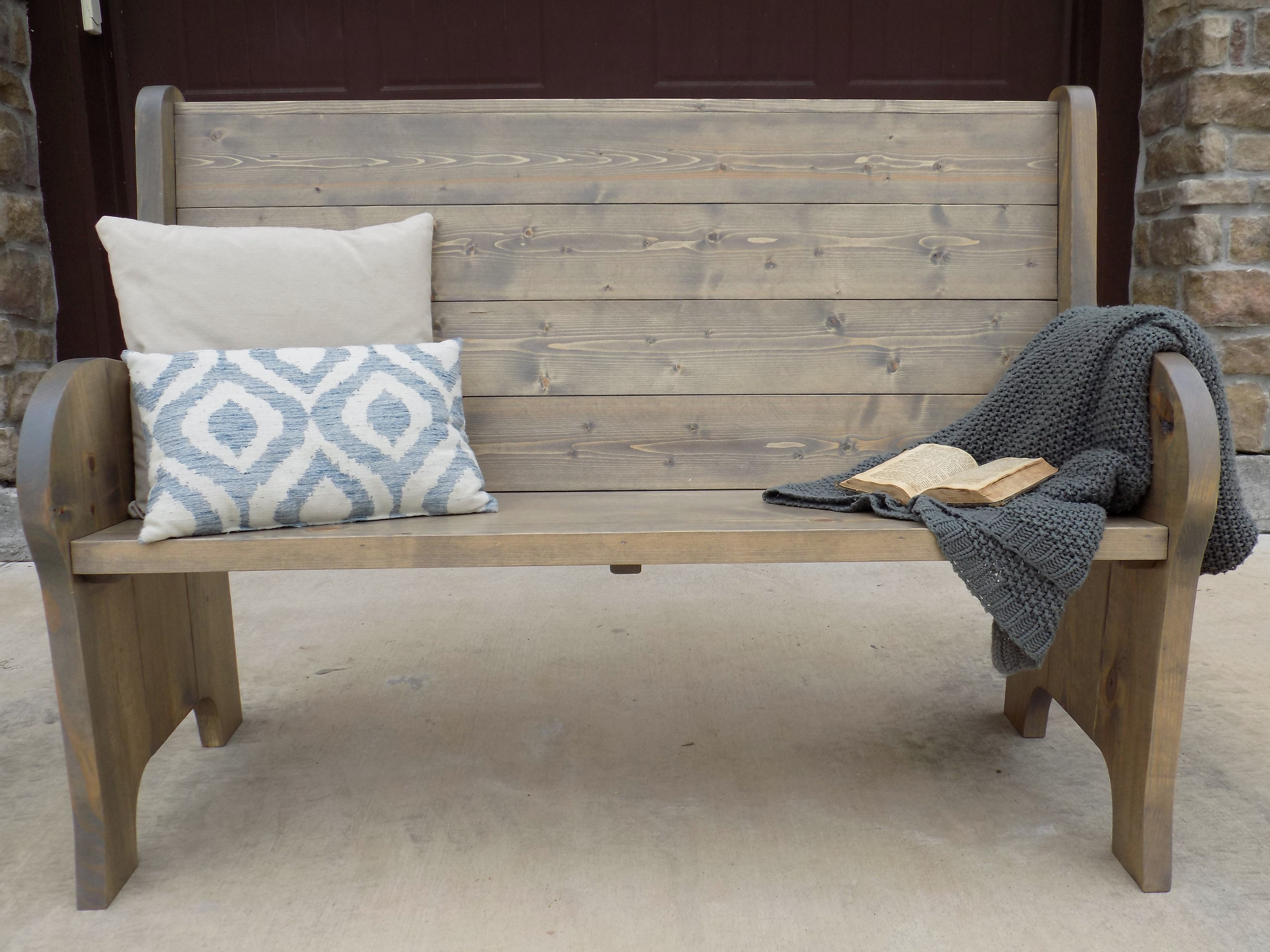 ana white church pew style entry bench diy projects