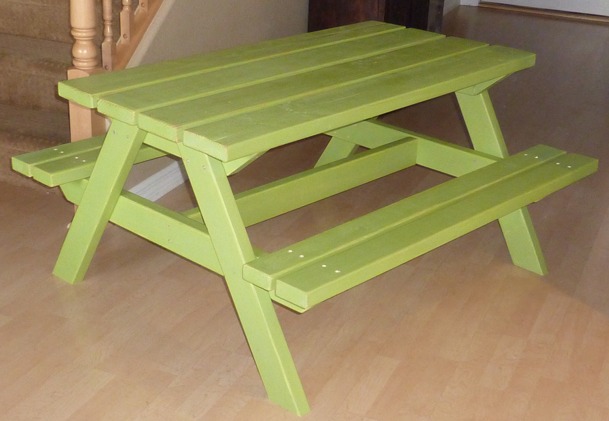 Bigger Kid's Picnic Table | Do It Yourself Home Projects from Ana ...