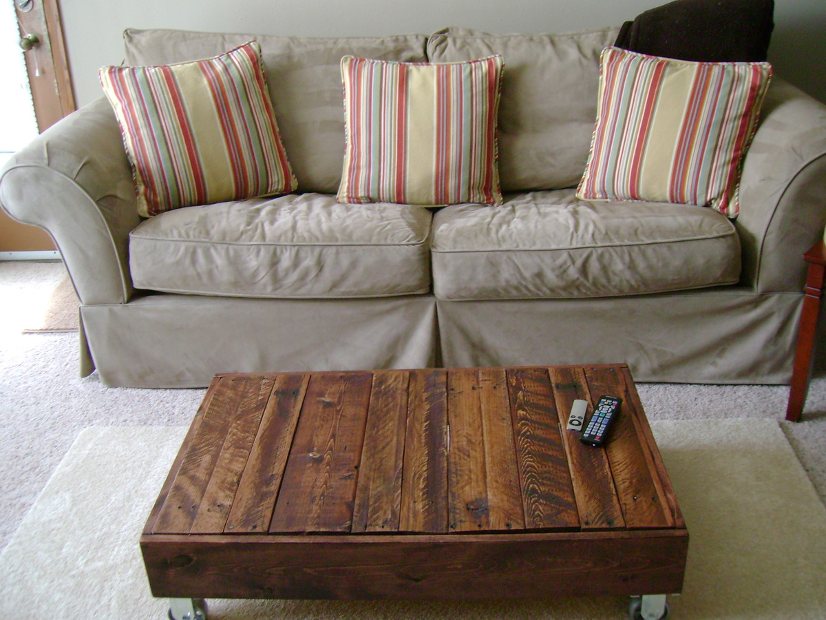 Recycled Pallet Factory Cart Coffee Table Ana
