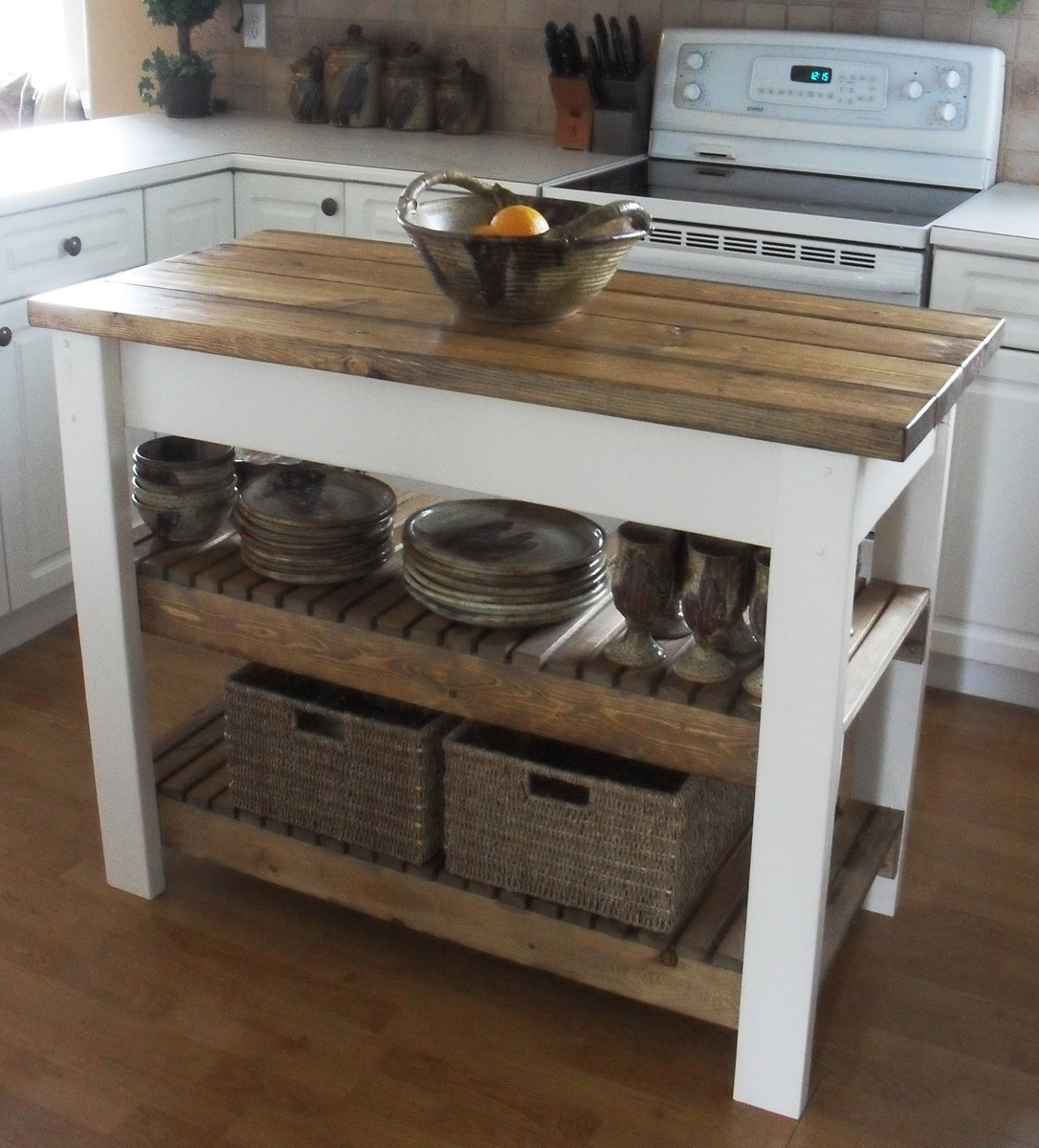 Ana White Kitchen Island DIY Projects - How to build a kitchen island with seating