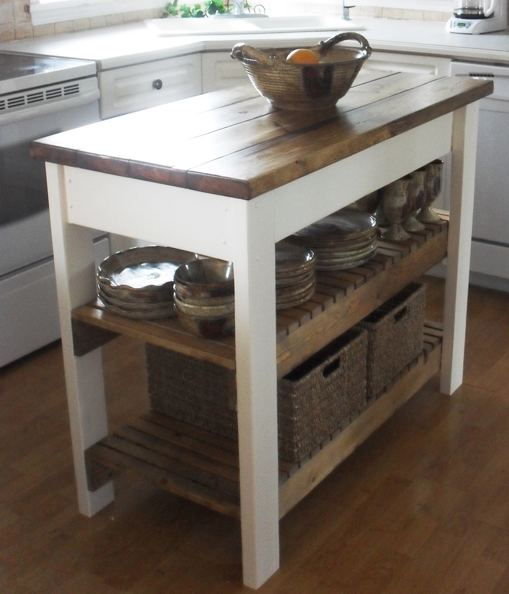 Ana white kitchen island diy projects for Small kitchen island designs