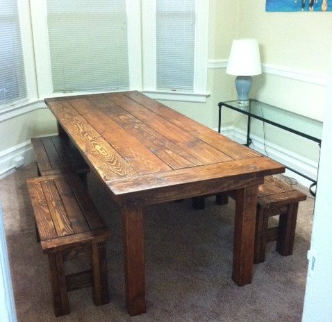 farm table with bench Ana White | Farm House Table and Benches   DIY Projects farm table with bench