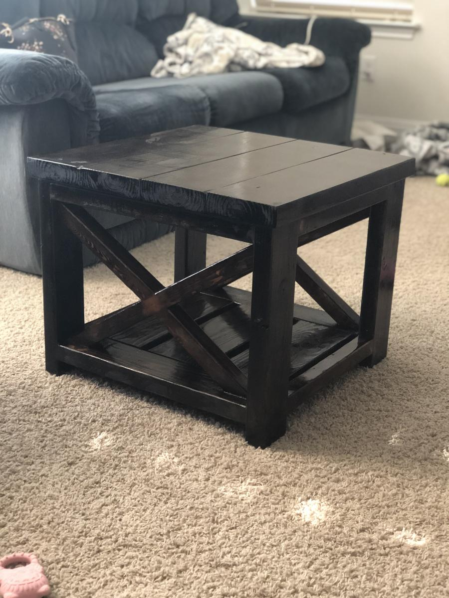 Rustic X Coffee And End Tables Ana White