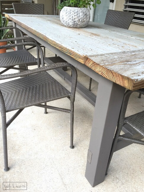 Ana White | Farmhouse Table with Reclaimed Lumber Top - DIY Projects