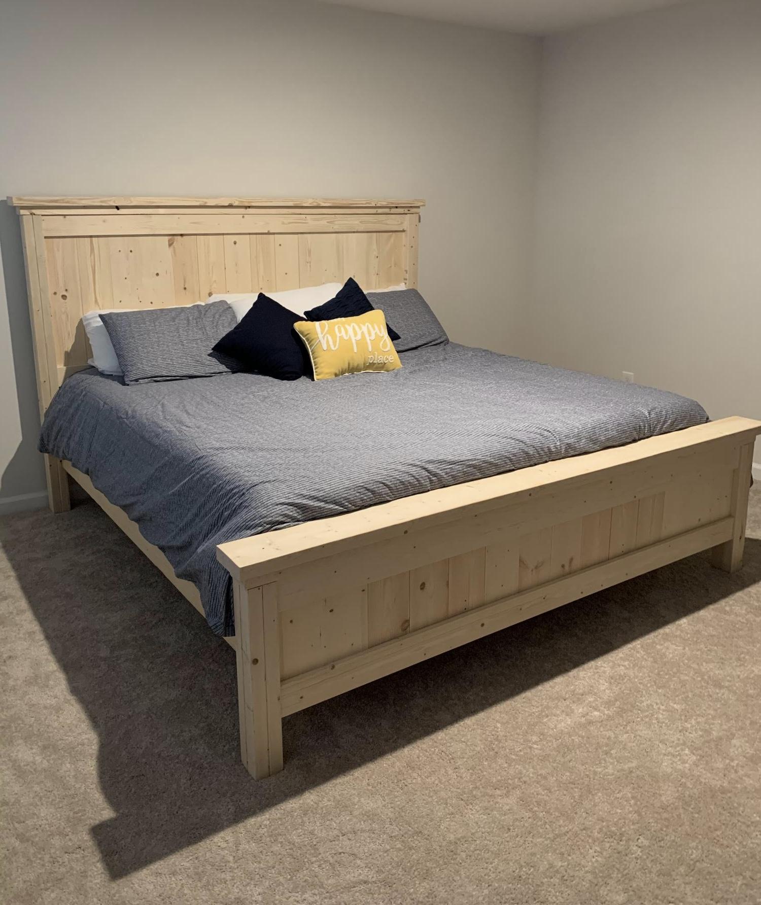 ana white farmhouse bed king