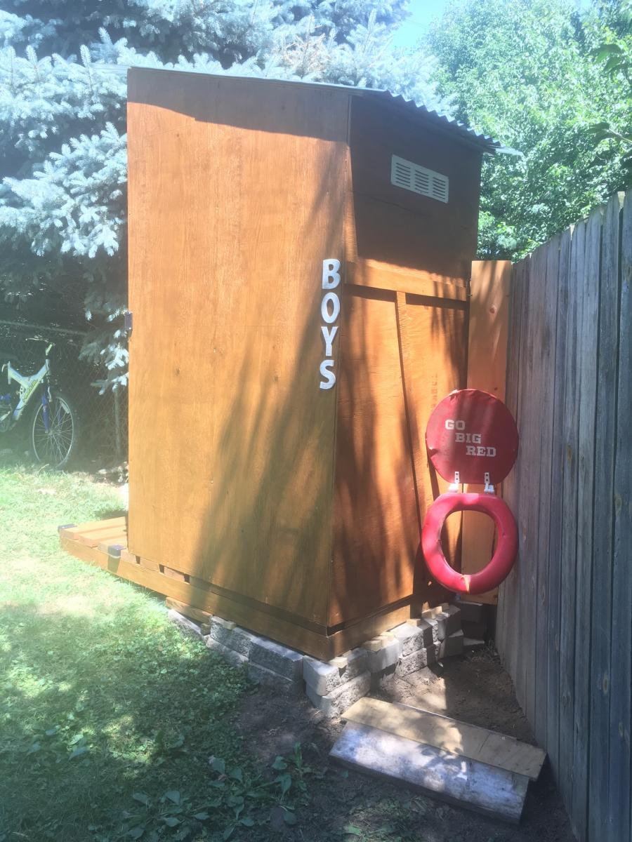 My Simple Outhouse Ana White