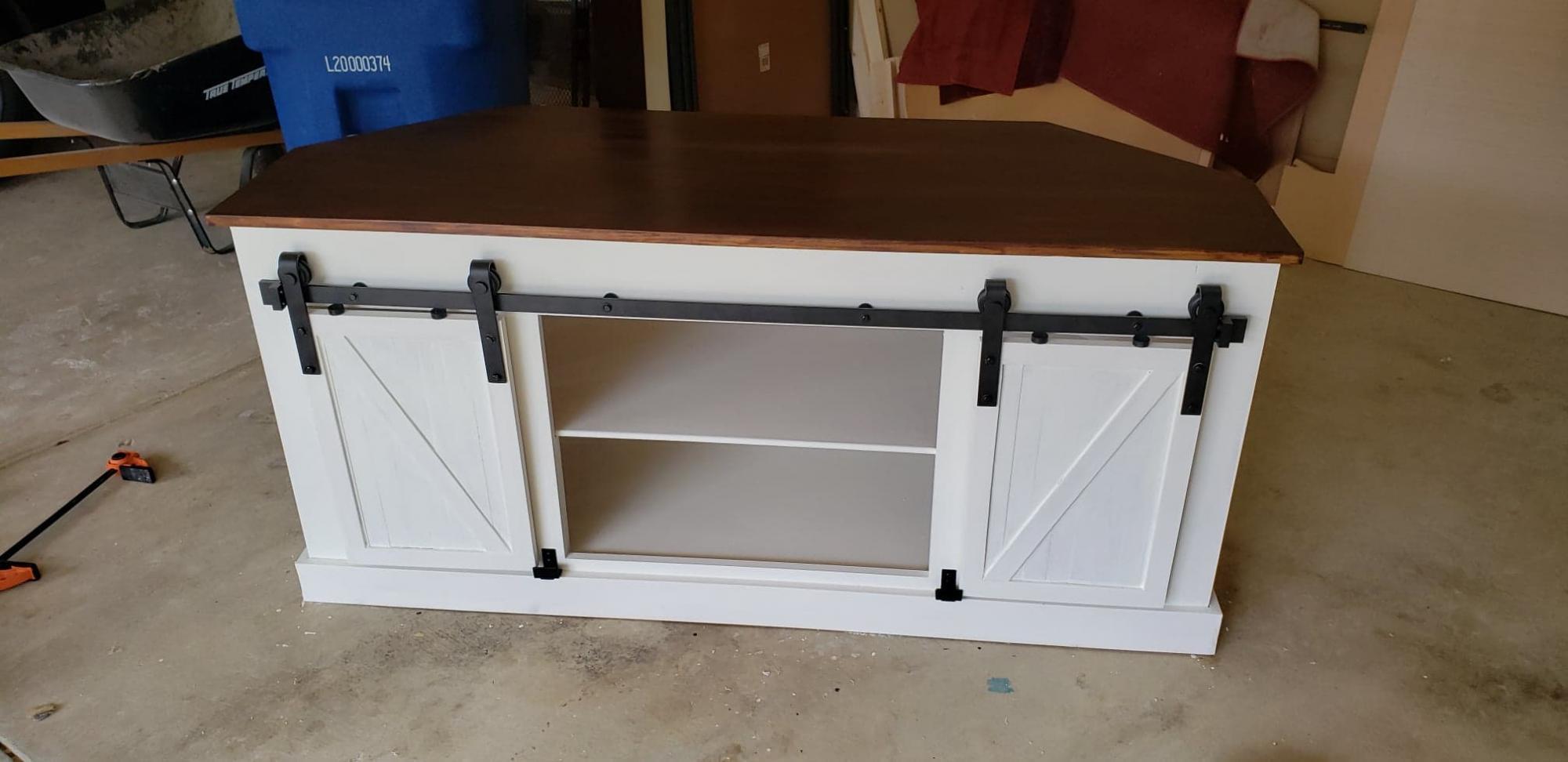 Grandy Barn Door Corner Tv Stand Ana White