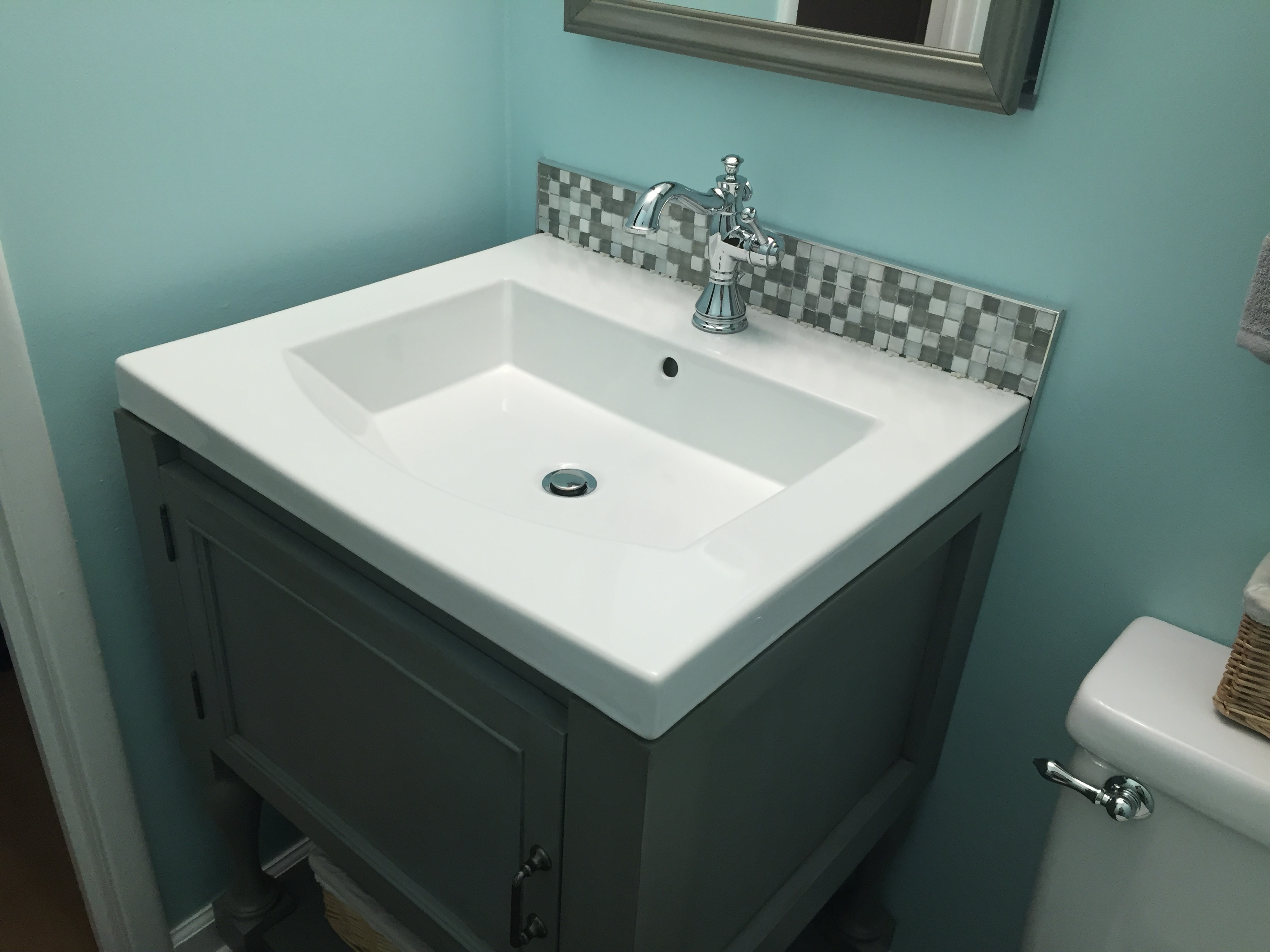 Ana White 25 Quot Turned Leg Bathroom Vanity Diy Projects