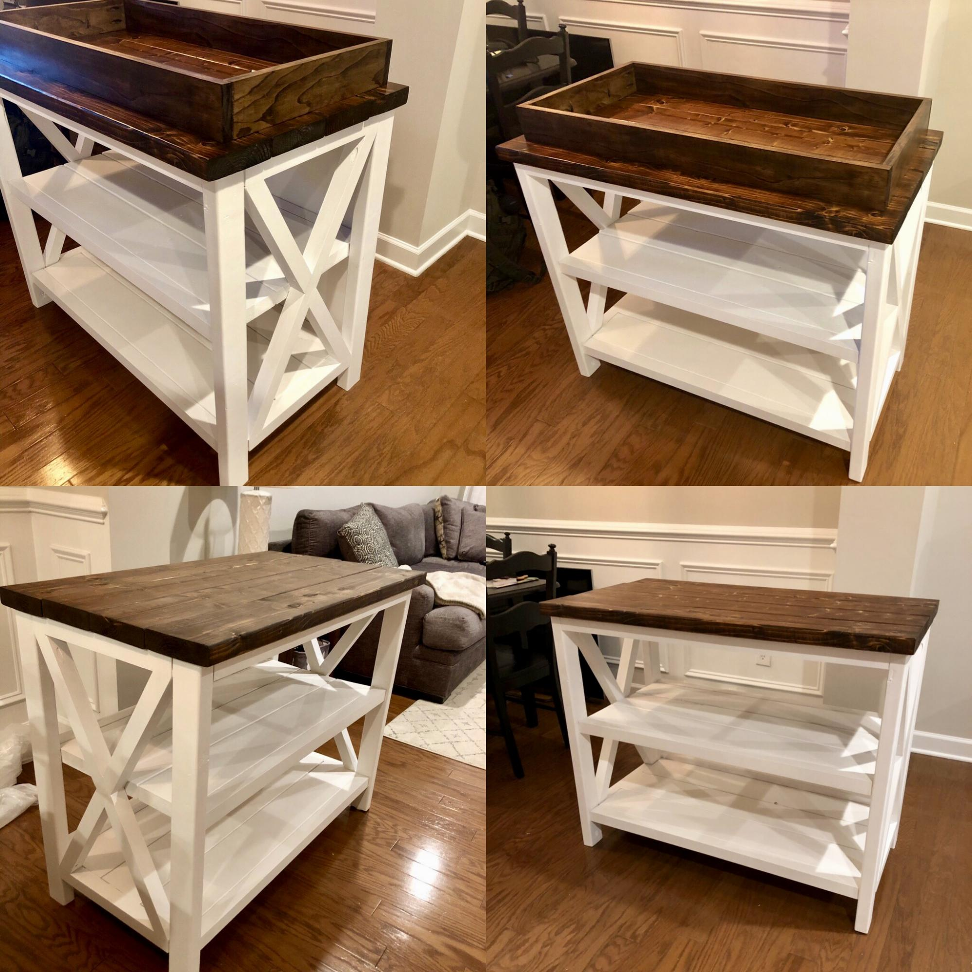 Rustic X Changing Table For Baby Prim