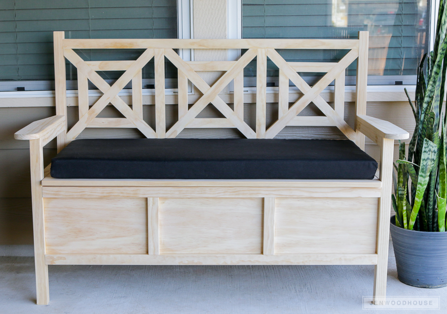 Diy Outdoor Storage Bench Ana White