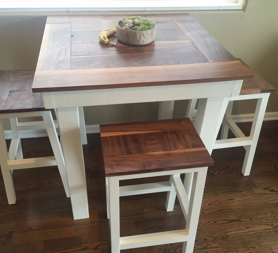 Ana White Bar Height Table With Stools Diy Projects
