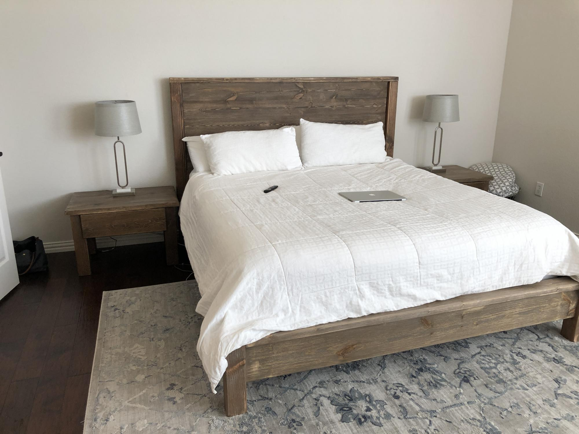 Modern Farmhouse Bed With Matching Nightstands Ana White