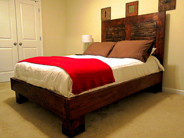 Ana white bed frame for full size mattress diy projects for Full size bed frame