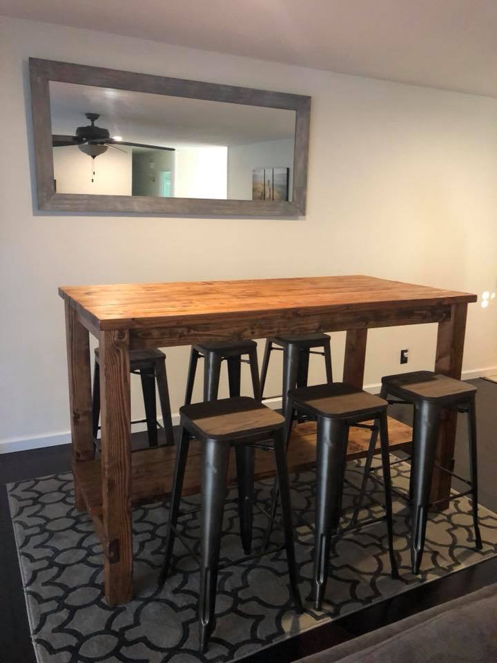 Ana White Farmhouse Style Bar Table San Diego Diy