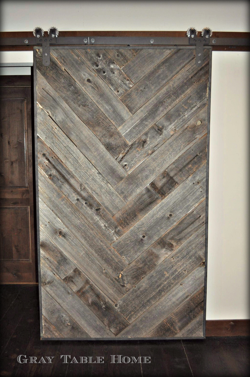 Ana white diy herringbone barn door diy projects - Barn door patterns ...
