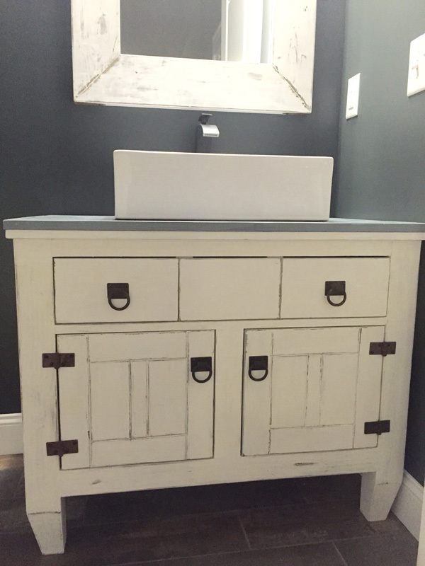 Ana White Farmhouse Bathroom Vanity Featuring Andrew Harris Woodwork DIY