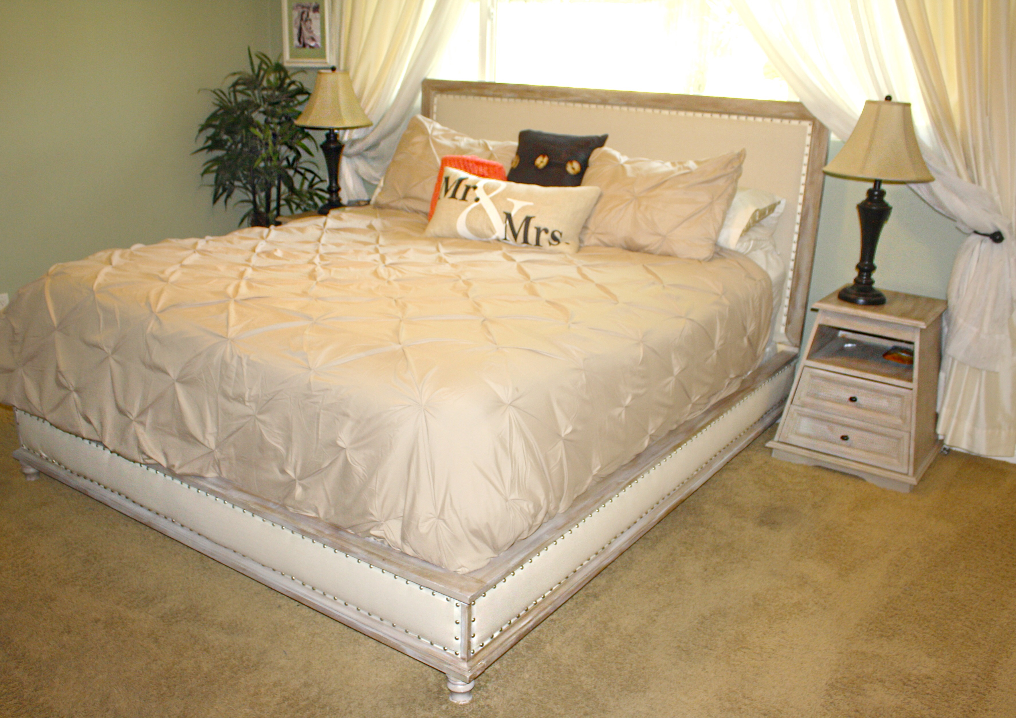 Ana White Wood And Upholstered Bed King Diy Projects