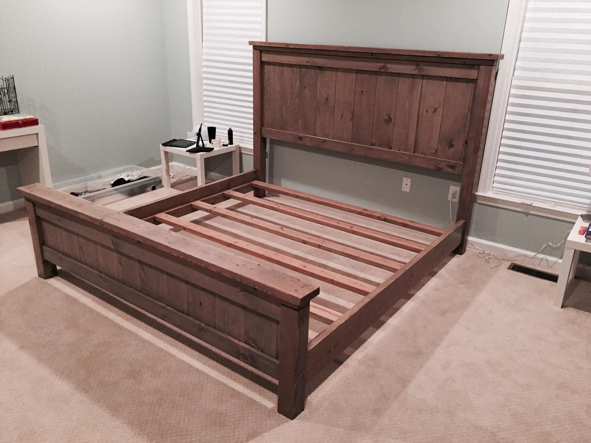 Custom bed frame lamour bed frame custom made white for Custom made bed frame